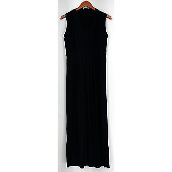Kate & Mallory jurk V-hals mouwloos geplooid Maxi blauw Womens A407961