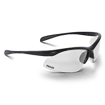 Stanley Unisex 10-Base Curved Half-Frame Safety Eyewear Black/Clear