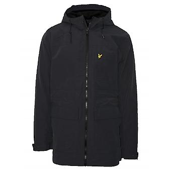 Lyle & Scott  Black Micro Fleece Lined Parka Jacket