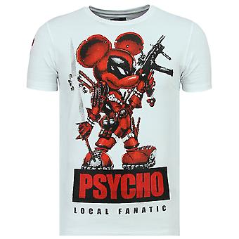 Psycho Mouse - Cute T-Shirt - 6321W - White