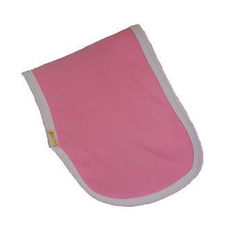 Pink & white trim plain burp cloth