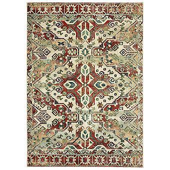 Dawson 8533a rust/ ivory indoor area rug rectangle 6'7