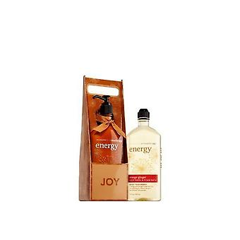 Bath and Body Works Aromatherapy Energy Orange Ginger Lotion and Body Wash Gift Set (Pack of 2)