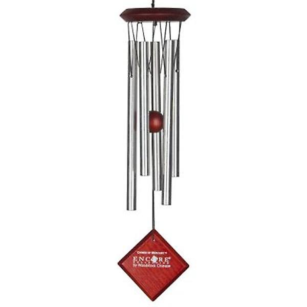Mercury Chime Silver with Dark Wood Finish