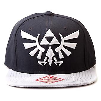 Nintendo Black and Grey Zelda Logo Snapback Hat