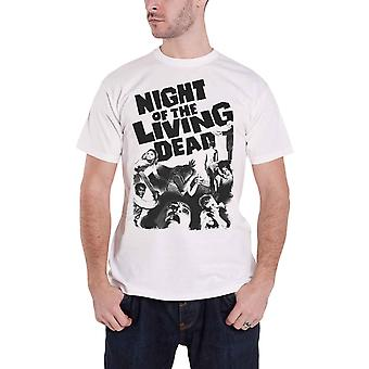 Night Of The Living Dead T Shirt new Official Vintage Horror Mens White