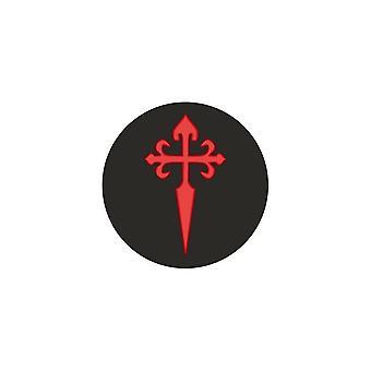 Naklejka Naklejka Samochód Moto Vinyl Flag Cross Zamówienie Templariuszy Santiago