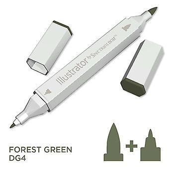 Illustrator by Spectrum Noir Single Pen - Forest Green