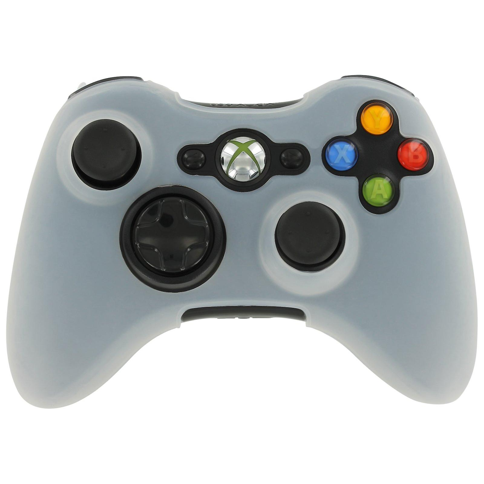 Silicone case for xbox 360 controller skin protector cover grip - white