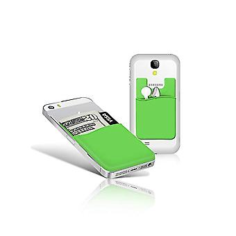 Silikon sock wallet card cash pocket sticker green