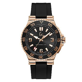 Gc Y51002G2MF Men's Structura Diver Silicone Black Wristwatch