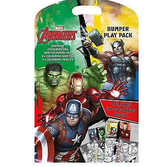 Avengers Bumper Play Pack Mini coloring Book with color pencils