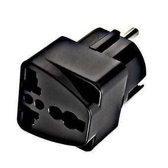 Lewis N. Clark Grounded Adapter Plug, Schuko For Outlets Europe/Asia, NEW #VG12