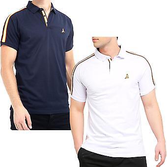 Brave Soul Mens Khalifa lyhythihainen rento puuvilla teipatut pikeepaita T-paita pusero