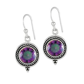 Eternal Collection Enigmatic Mystic Topaz Sterling Silver Drop Pierced Earrings