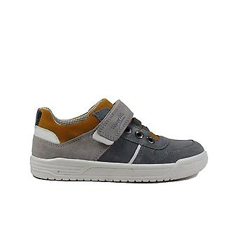 Superfit 09051-25 Grey Suede Leather Boys Bungee Lace/Rip Tape Casual Trainer Shoes
