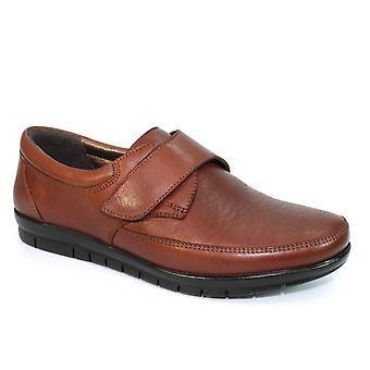 Lunar Petra Leather Touch Fasten Shoe