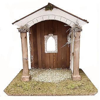 Crib wooden crib Christmas crib Christmas nativity scene for figures approx. 12 cm
