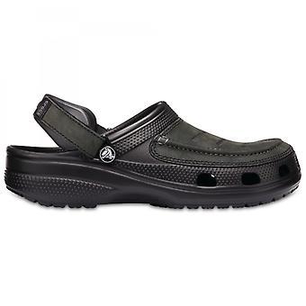 Crocs 205177 يوكون فيستا رجال القباقيب الأسود