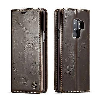 Case voor Samsung Galaxy S9 Plus Brown Kaarthouder