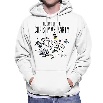 Simon's Cat Ready For The Christmas Party Men's Hooded Sweatshirt