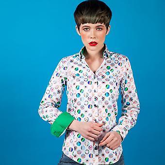 Claudio Lugli Womenswear Multicolour Balls Print Shirt