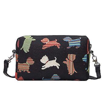 Speelse puppy Shoulder hip Bag van signare tapijt/hpbg-puppy