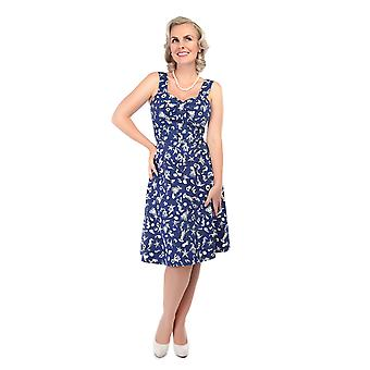 Collectif Vintage Women's 1950's Seashell Print Adele Dress