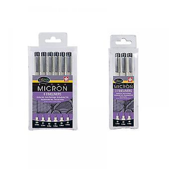 Sakura Pigma Micron Fineliners 9 Pen Bundle