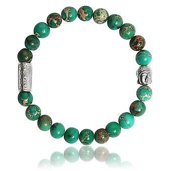 Lauren Steven Design ML059 Bracelet - Jasper Natural Stone Bracelet from Sea Green Men