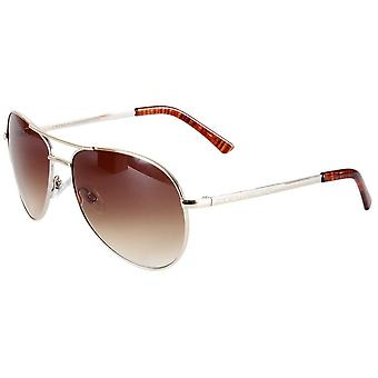 French Connection Classic Aviator Sunglasses - Gold