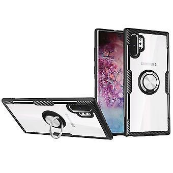 Für Samsung Galaxy Note 10 + Plus Fall Silber Kunststoff Schützende Rückseite Abdeckung