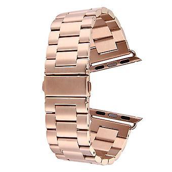 Rose Gold Per Apple Watch (38mm) Butterfly Ininless Steel Watch Strap
