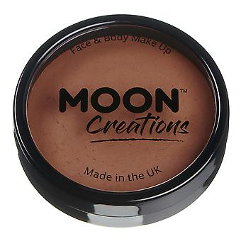 Moon Creations - Pro Face & Body Paint Cake Pots - Mid Brown