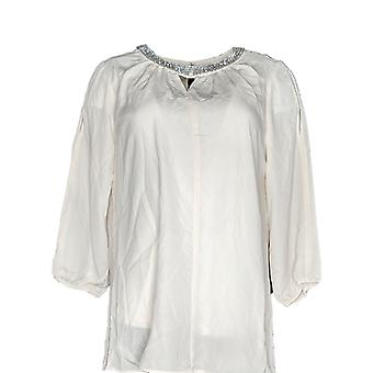 Dennis Basso Mujeres's Top Cold Shoulder Blusa & Tanque Set Marfil A301428