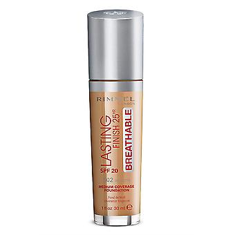 Rimmel London Lasting Finish Foundation Cobertura media 25Hr SPF20 30ml Noisette #502