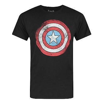 Jack Of All Trades Captain America Ahdistunut Dot Logo Miesten's T-paita