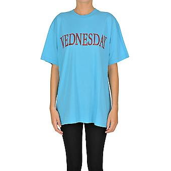 Alberta Ferretti Ezgl095035 Women's Light Blue Cotton T-shirt