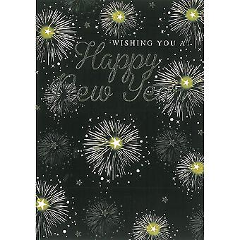 Simon Elvin Fireworks New Year Wishes Cards (Pack de 6)