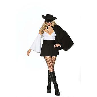 Elegant Moments Womens Daring Bandit Zorro Halloween Costume