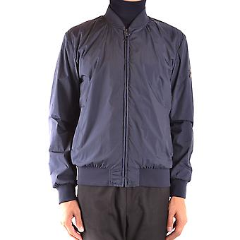 Fay Ezbc035068 Men's Blue Nylon Outerwear Jacket