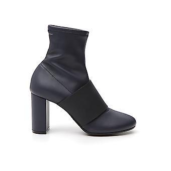 Maison Clochard S59wu0077p1911961 Women's Blue/black Leather Ankle Boots