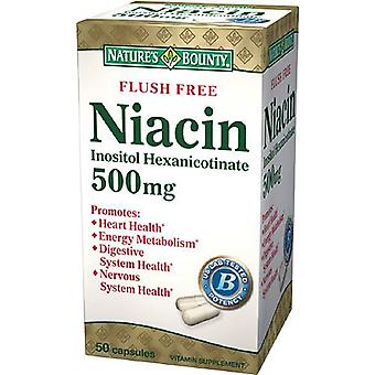 Nature's bounty flush gratis niacin 500 mg, capsules, 50 ea