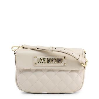 Love Moschino Original Women Jesień/Zima Torba Crossbody - Biały Kolor 37808