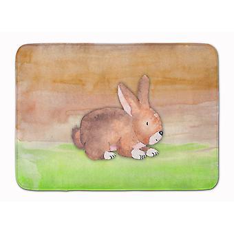 Rabbit Watercolor Machine Washable Memory Foam Mat