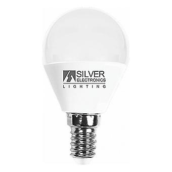 Gömb alakú LED-es izzó Ezüst Elektronika E14 7W Meleg fény/3000K