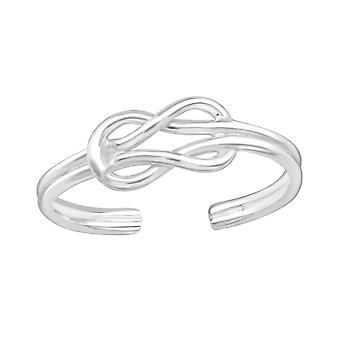 Knot - 925 Sterling Silver Toe Rings - W21062x