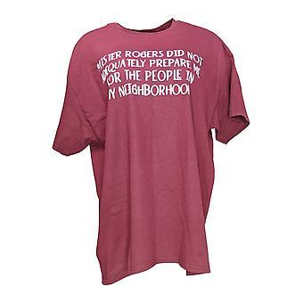 Gildan Women's Top Mister Rogers Novelty Motto T-Shirt Red