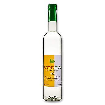 1 bottiglia di vodka di cannabis 0,5 l con aroma di fiori di canapa