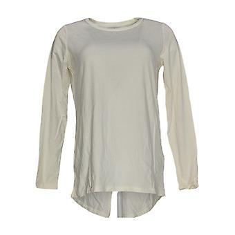 Chiunque Donne&apos&s Top Long Sleeve T-Shirt Bianco A367691